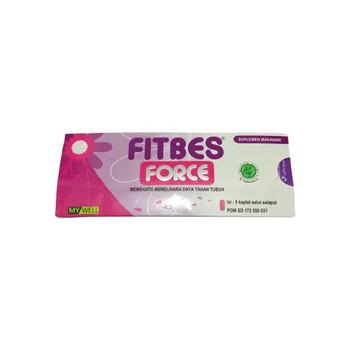 Fitbes Force kaplet adalah suplemen untuk membantu memelihara daya tahan tubuh
