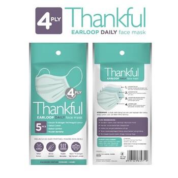 Thankful Face Mask Adult Earloop Daily  harga terbaik 10000