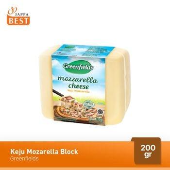 Greenfields Keju Mozarella Block 200 g harga terbaik