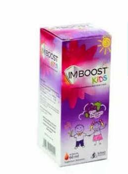 Imboost Kids Rasa anggur sirup adalah suplemen untuk meningkatkan daya tahan tubuh