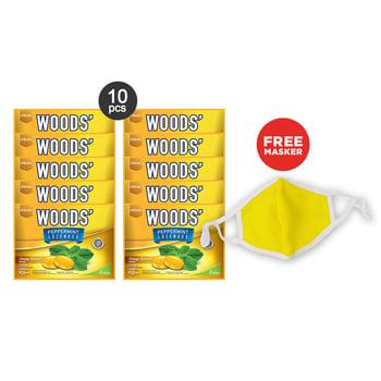 Woods Lozenges Honey Lemon Family Pack Free Masker harga terbaik 54900