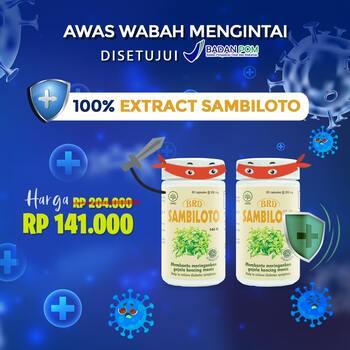 PROMO 2 Botol - Borobudur Herbal Sambiloto Kapsul  harga terbaik 149000