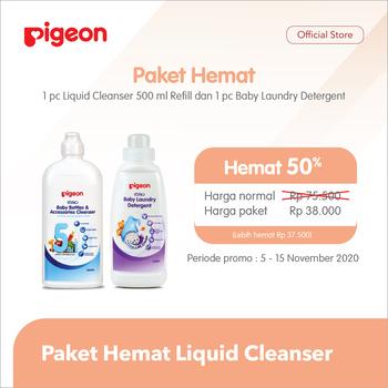 Pigeon Paket Hemat Liquid Cleanser - Free LLD 500 ml harga terbaik