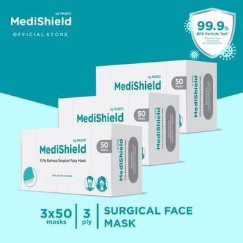 Medishield by Paseo Masker Surgical Earloop 3Ply  harga terbaik 305000