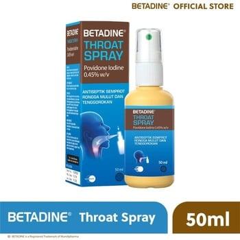 Betadine Throat spray adalah obat untuk membantu menghilangkan virus radang tenggorokan