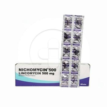 Nichomycin kapsul 500 mg adalah antibiotik yang digunakan untuk mengobati infeksi bakteri.