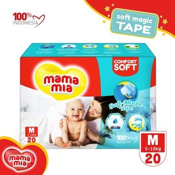 Mamamia Baby Diapers Soft Magic Tape M20 harga terbaik 28900
