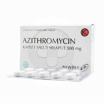 Azithromycin Novell Kaplet 500 mg (1 Strip @ 10 Kaplet)