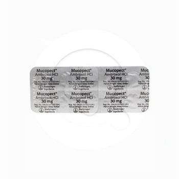 Mucopect tablet adalah obat untuk mengobati gangguan pada saluran pernapasan dan mengencerkan dahak