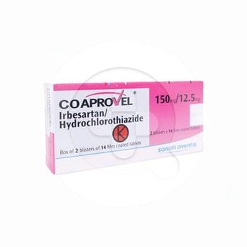 Coaprovel tablet adalah obat untuk membantu menurunkan tekanan darah tinggi