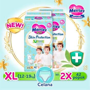 Merries Skin Protection Popok Bayi Celana XL 42  harga terbaik 292600