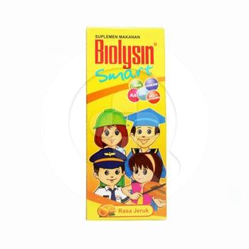 Biolysin smart sirup 60 ml adalah suplemen makanan untuk memelihara kesehatan tubuh anak