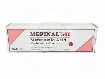 Mefinal kaplet adalah obat untuk mengurangi nyeri ringan hingga sedang