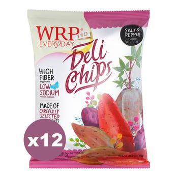 WRP Delichips Salt & Pepper 12 x 40 g harga terbaik 78500