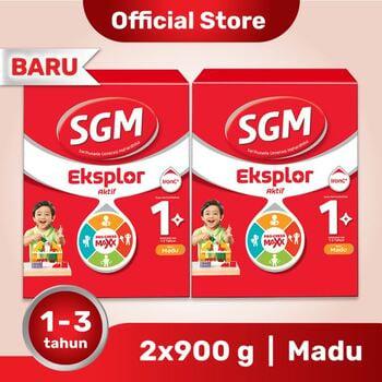 Paket 2 - SGM Eksplor 1 Plus Susu Pertumbuhan 1-3 Tahun Madu 900 g harga terbaik