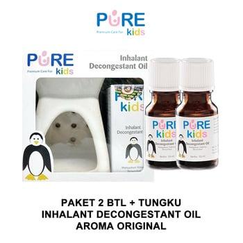 Paket Pure Kids Purekids Inhalant Decongestant Oil 2 Pcs + Tungku harga terbaik 89599