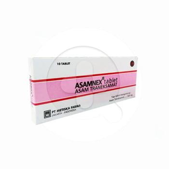 Asamnex tablet adalah obat yang digunakan untuk mengurangi atau menghentikan perdarahan.