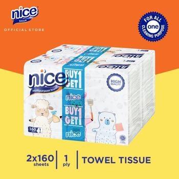 Nice Towel Multifold 160 Sheets  harga terbaik 22550