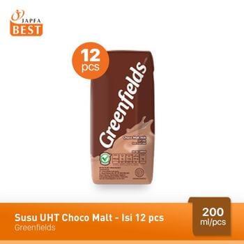 Greenfields Susu UHT Choco Malt 200 ml - 12 Pcs harga terbaik 75000