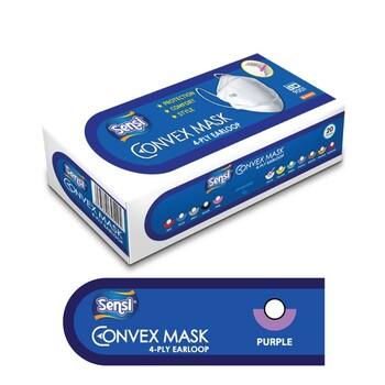 Sensi Convex Mask Earloop 4Ply - Purple  harga terbaik