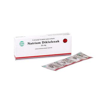 Natrium Diklofenak Tablet adalah obat yang mengandung natrium diklofenak 25 mg.