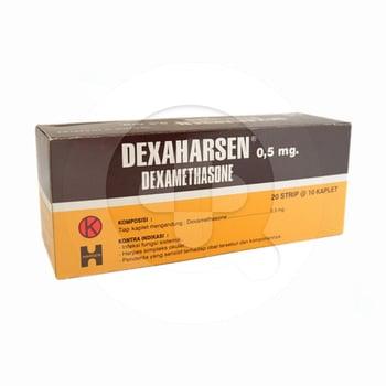 Dexaharsen Kaplet adalah obat untuk penurunan kadar kortikosteroid dalam darah.