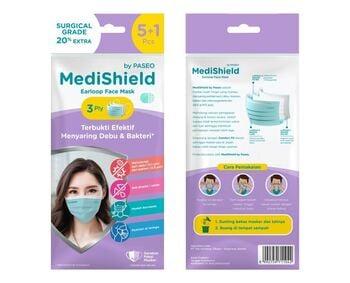 Medishield by Paseo Masker Surgical Earloop 3 Ply  harga terbaik 10500