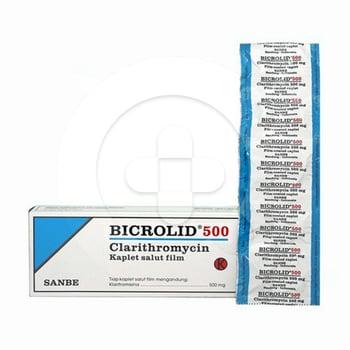 Bicrolid kaplet adalah obat untuk pengobatan infeksi saluran pernapasan dan infeksi kulit