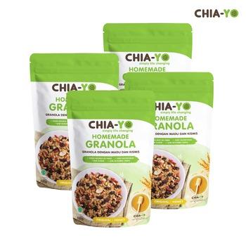 Chia-Yo Bundling 4 pack Homemade Granola Original 100 g harga terbaik