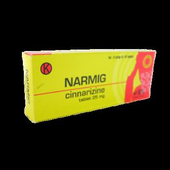 Narmig tablet 25 mg obat untuk mengatasi gangguan keseimbangan dan gangguan sirkulasi cerebrovaskular