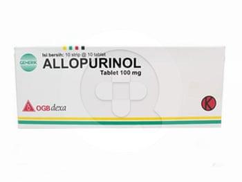 Allopurinol OGB Dexa Medica Tablet 100 mg (1 Strip @ 10 Tablet)