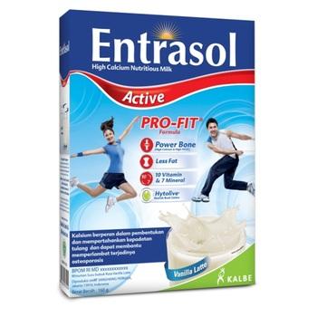 Entrasol Active Susu Rasa Vanilla Latte 160 g harga terbaik 30825