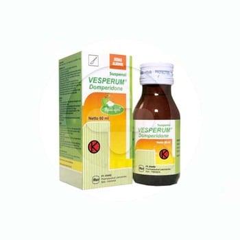 Vesperum suspensi 60 obat pengobatan mual dan muntah akut.