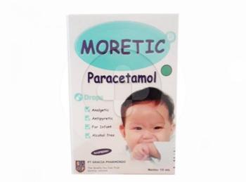 Moretic drop digunakan untuk meringankan sakit kepala, sakit gigi, demam, dan nyeri setelah vaksinasi