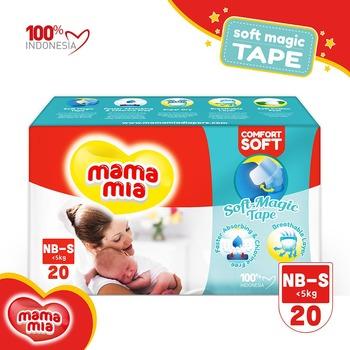 Mamamia Baby Diapers Soft Magic Tape S20 harga terbaik 23500