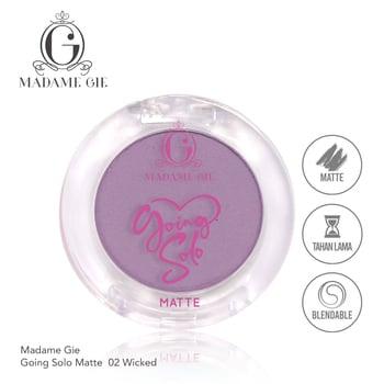 Madame Gie Going Solo Matte Pressed Eyeshadow 02 - Wicked harga terbaik 16000