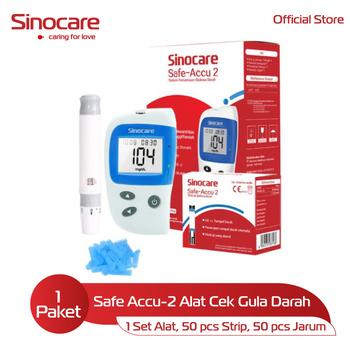 Sinocare Paket Safe Accu-2 Kits - Alat Cek Gula Darah harga terbaik 118000