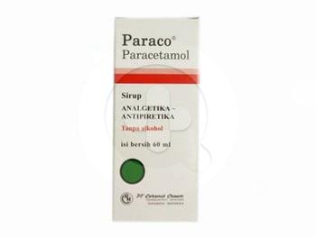 Paraco sirup berguna untuk menurunkan demam serta meredakan sakit gigi dan sakit kepala