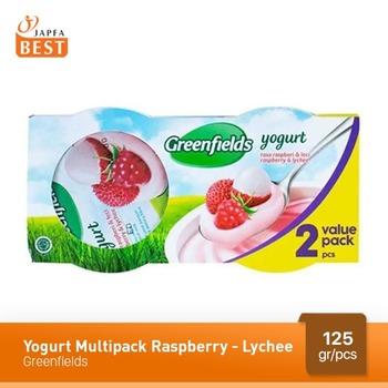Greenfields Yogurt Raspberry-Lychee 125 g - 2 Pcs harga terbaik
