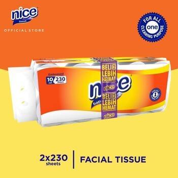 Nice Tissue Toilet Roll Core Emboss 230 Sheets x 10 Roll - Beli 2 Lebih Hemat  harga terbaik 49500