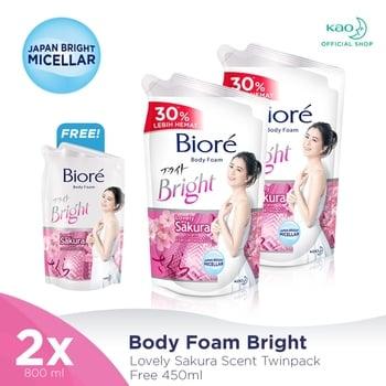 Biore Body Foam Sakura 800 ml - Twinpack FREE Gift harga terbaik 110008