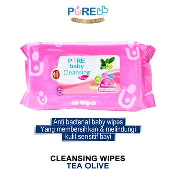 Pure Baby Cleansing Wipes Tea Olive 60's harga terbaik 11333