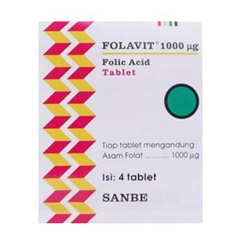 Folavit tablet adalah suplemen untuk memenuhi kebutuhan asam folat bagi ibu hamil dan menyusui