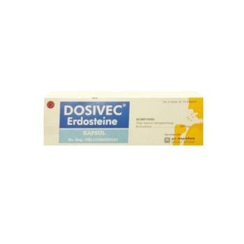 Dosivec kapsul digunakan untuk mengencerkan lendir pada peyakit saluran pernafasan akut dan kronik.