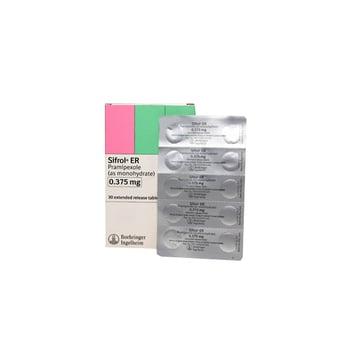 Sifrol Er Tablet adalah obat untuk pengobatan tanda dan gejala penyakit yang terjadi karena degenerasi sel saraf dan hilangnya sel-sel yang memproduksi dopamin di otak (parkinson) idiopatik lanjut.
