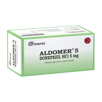 Aldomer tablet adalah obat untuk mengatasi demensia pada pasien yang mengalami alzheimer.