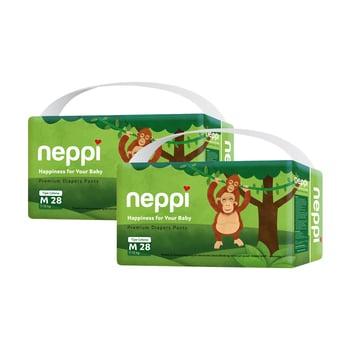 Neppi Premium Baby Diaper Pants M 28 - Twinpack harga terbaik 133800