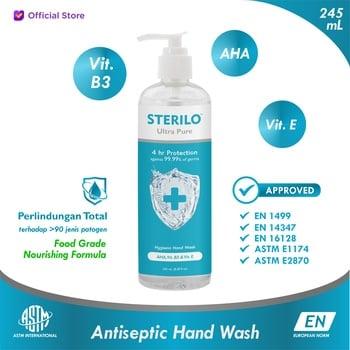 Sterilo Pure Plus AHA Antiseptic Hand Wash 245 ml harga terbaik