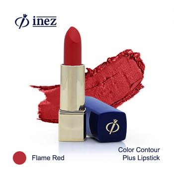 Inez Color Contour Plus Lipstick - Flame Red harga terbaik