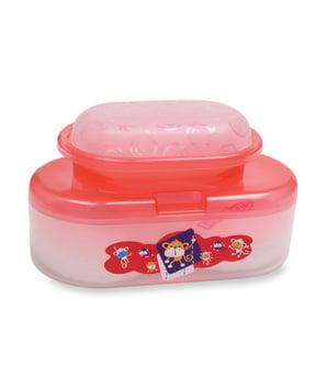 Lusty Bunny Tempat Bedak Oval Bayi + Tempat Sabun - Merah harga terbaik 34100